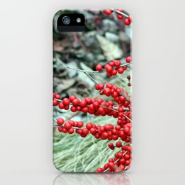 Green and Red iPhone Case