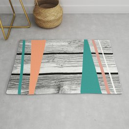 Colored arrows on wood Rug