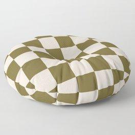 checks –green and tan Floor Pillow