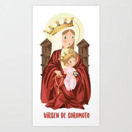 Virgen de Coromoto Art Print