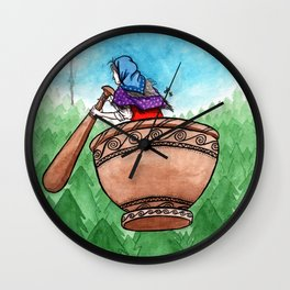 Flying Back Home Wall Clock