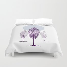Cold Trees Duvet Cover
