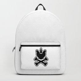 Uniskull logo print, grunge unicorn skull Backpack