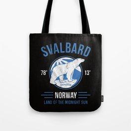 Svalbard Arctic Polar Bear - Midnight Sun in Longyearbyen Norway Tote Bag
