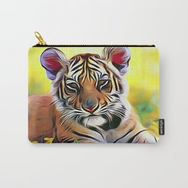 Young Tiger Cub Carry-All Pouch