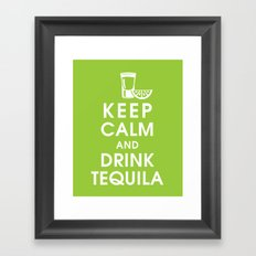 Keep Calm and Drink Tequilla Framed Art Print