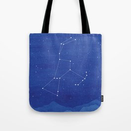 Orion Constellation, mountains Tote Bag