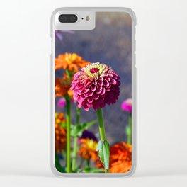 Zinnia Zen Clear iPhone Case