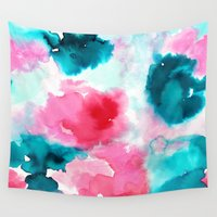 water color Wall Tapestries featuring Water color by moniquilla