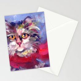 Meow's New Muffler Stationery Cards
