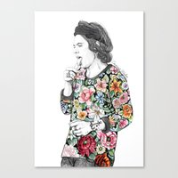 coconutwishes Canvas Prints featuring Harry  sketch  by Coconut Wishes