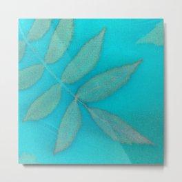 Floating Leaves Botanical Print Metal Print