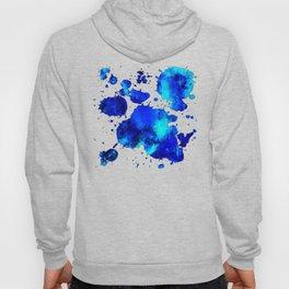 psychedelic color gradient pattern splatter watercolor blue Hoody