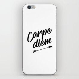 Carpe diem Seize the day Arrow iPhone Skin