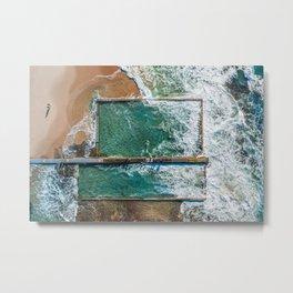 Ocean Pool at Austinmer Metal Print
