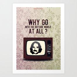 Punk Quotes Poster Serie / Black Flag Said : TV Party! Art Print