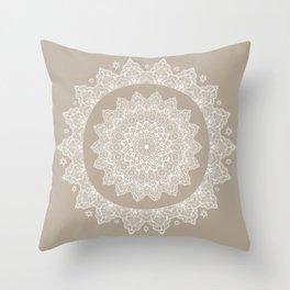 Baja Dunes Mandala Lace Bohemian Décor Throw Pillow