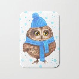 winter Owl Bath Mat