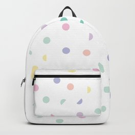 Cute Colored Circle Pattern Backpack