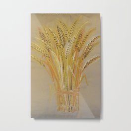 Harvest Wheat Metal Print