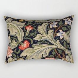 William Morris Laurel Multi-Colored Floral Textile Pattern Sunflower, Aster, Dahlia Rectangular Pillow