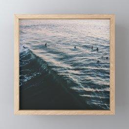 Searching the Surf Framed Mini Art Print