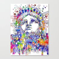 new york Canvas Prints featuring New York New York by Bekim ART