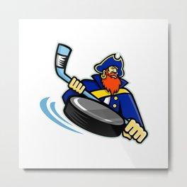 Swashbuckler Ice Hockey Sports Mascot Metal Print