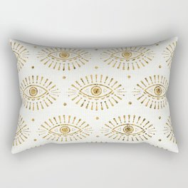Evil Eyes Gold Rectangular Pillow