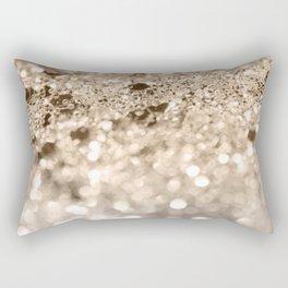 Gold Lady Glitter #1 #shiny #decor #art #society6 Rectangular Pillow