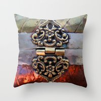 katniss Throw Pillows featuring Katniss by The Brass Clasp