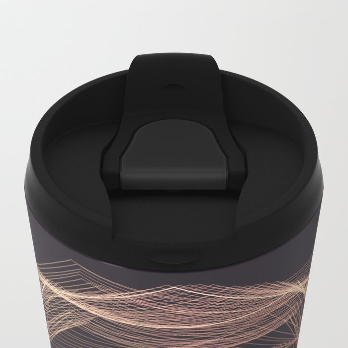 Geometric Rose Metal Travel Mug