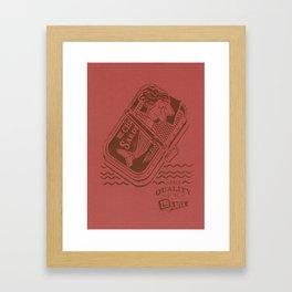 'The Lazy Mermaid' Framed Art Print