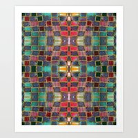 Art Print featuring Border 2 E Pattern 3 by Cie Ja