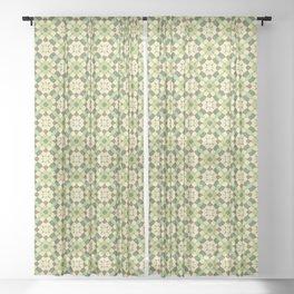 Pistachio Color Pattern Sheer Curtain