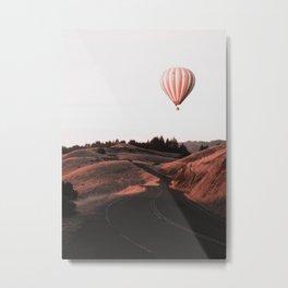 Air Balloon Road Metal Print
