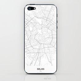 Milan, Italy Minimalist Map iPhone Skin