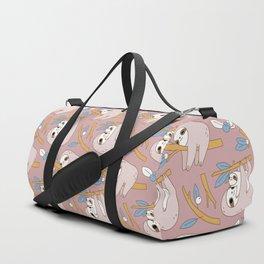 Sloth pattern in pink Duffle Bag