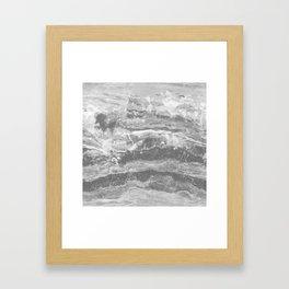 Real Gray Marble Framed Art Print