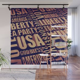 Tea Party Text Wall Mural