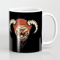 devil Mugs featuring Devil by LessaKs Art