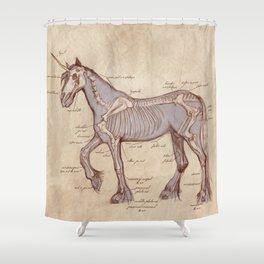 Anatomy Of The Unicorn Shower Curtain