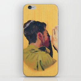 Untitled (soldier, gold) iPhone Skin