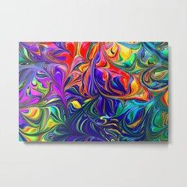 Colorful nonfigurative happy paint Metal Print