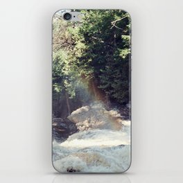 a rainbow at the falls iPhone Skin
