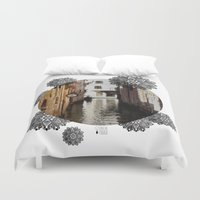 venice Duvet Covers featuring Venice by Caroline Fogaça