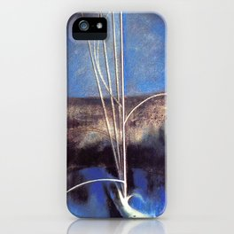 Song of the Nightingale, Tuscany, Italy landscape by Joseph Stella iPhone Case