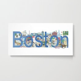 Boston - Cityscapes by Stephanie Hessler Metal Print