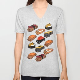 Sushi Daschunds Unisex V-Neck