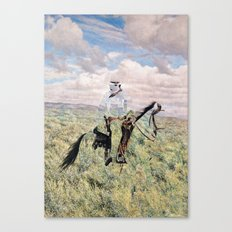 The Unknown Rider in Death Rides The Pecos Canvas Print
